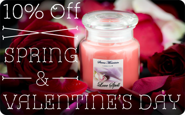 Valentines sale at Sierra Mountain Candle Co