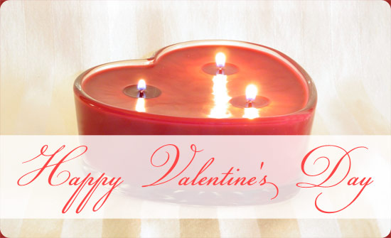 Special Valentines Day Candle