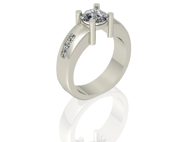 Modern Industrial Engagement Ring : Arden Jewelers