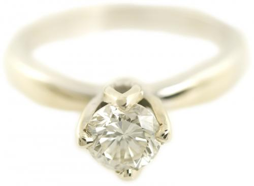 Tulip Diamond Solitaire Engagement Ring