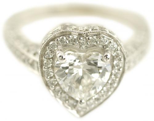 Heart Cut Diamond Halo Engagement Ring
