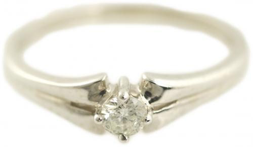 Split Shank Solitaire Diamond Ring