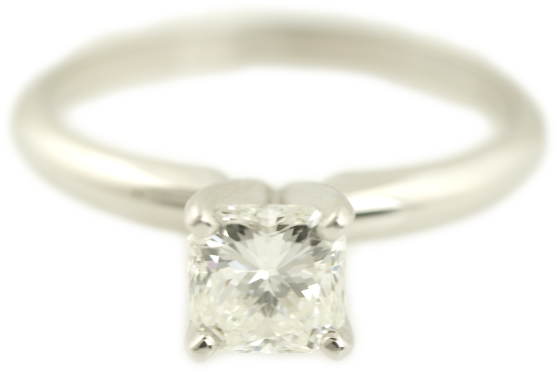 Radiant Cut Diamond Solitaire Engagement Ring