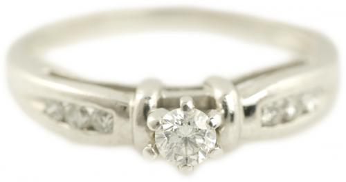 Diamond Ring with Bar Accents and Channel Set Diamonds
