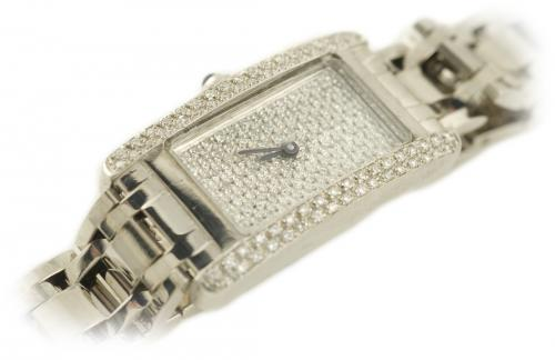 Estate Diamond Watch in White Gold
