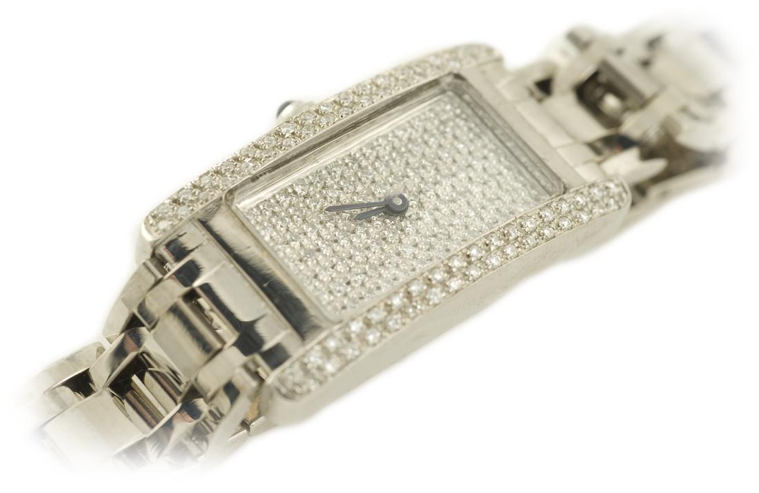 Estate Diamond Watch in White Gold
