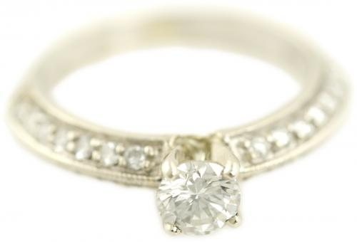Simple Bead Set Diamond Engagement Ring