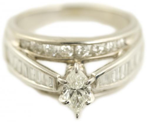 Cathedral Bridge Diamond Engagement Ring