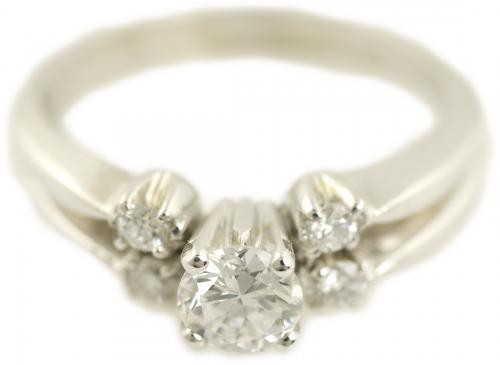 Five Stone Diamond Bridal Set in White Gold
