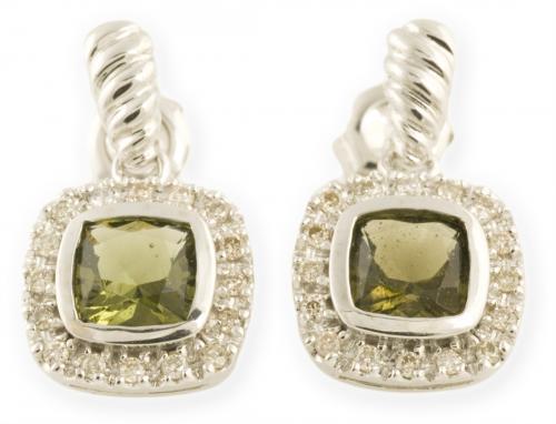 Asteria : Diamond Halo Earrings