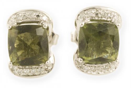 Asteria : Gold Diamond Stud Earrings