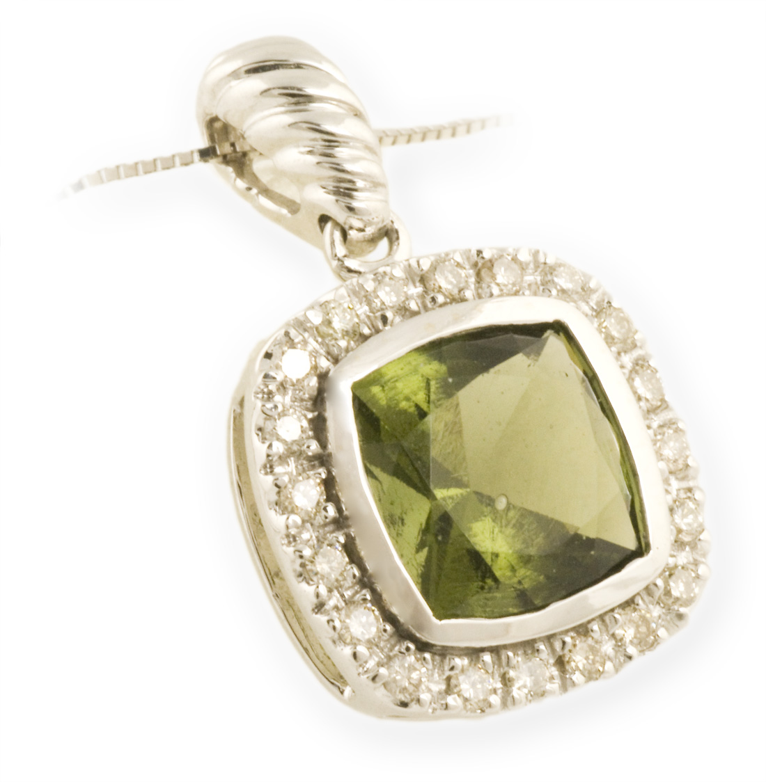 Asteria : Diamond Halo Pendant