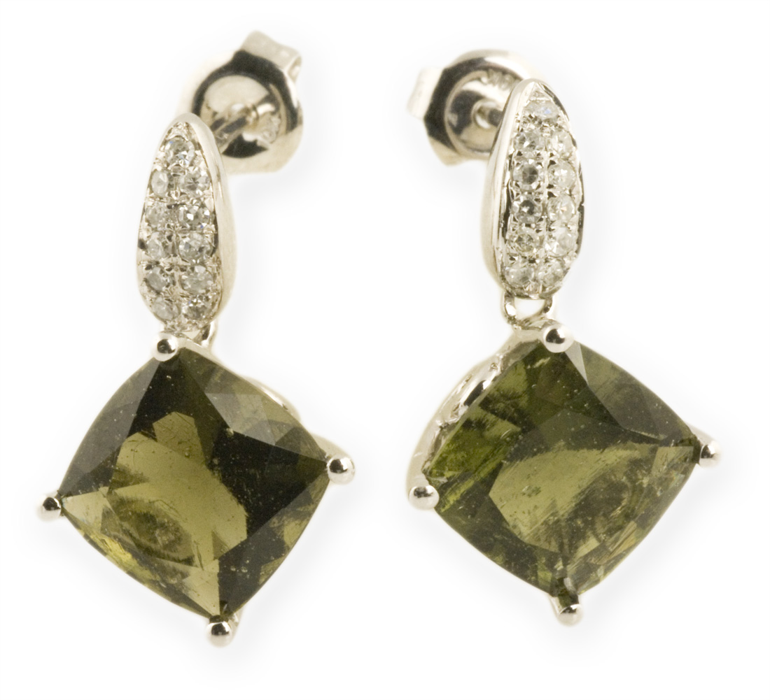 Asteria : Gold Pavé Dangle Earrings