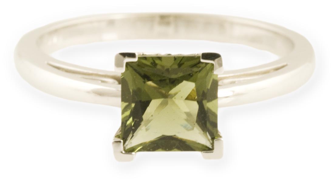 Asteria : Scroll Design Princess Cut Ring