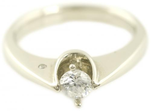 Modern Tapered Cathedral Solitaire Engagement Ring