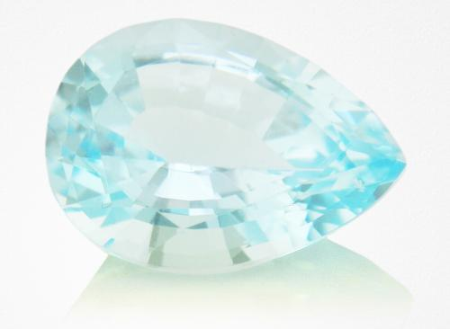 This blue Topaz is the result of bombardment at the subatomic level.