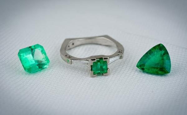 High end emerald jewelry at Arden Jewelers