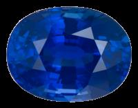A stunning rich blue oval sapphire