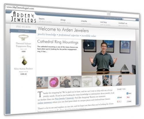 Arden Jewelers has a new website