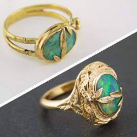 Yellow gold opal ring makeover
