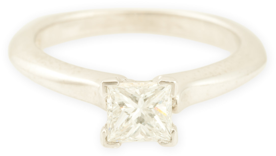 Aspen : Princess Cut Solitaire Engagement Ring