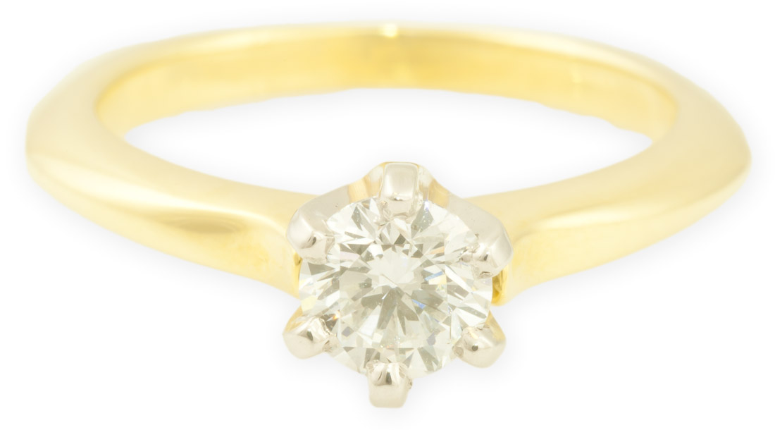 Aspen : Yellow Gold Engagement Ring
