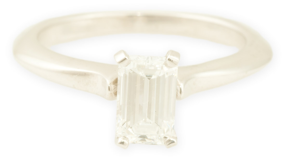 Aspen : Emerald Cut Engagement Ring