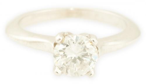 Aspen : White Gold Round Engagement Ring