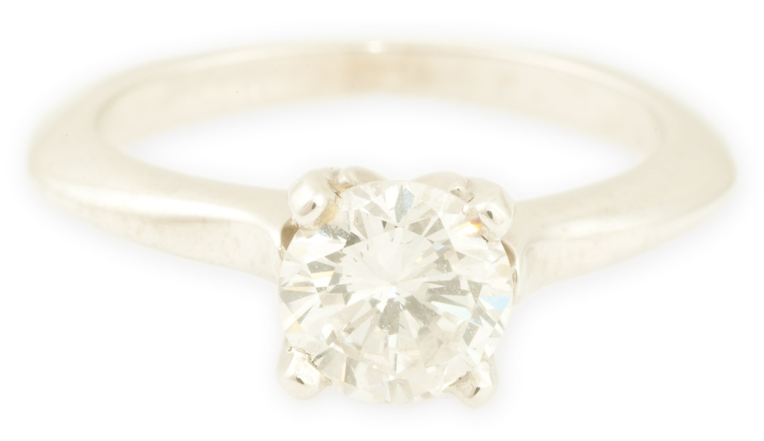 Aspen : White Gold Round Engagement Ring