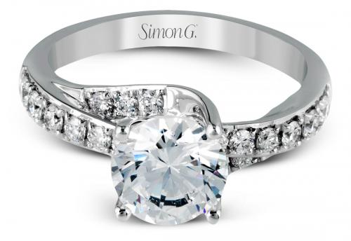Simon G : Crossover Engagement Ring