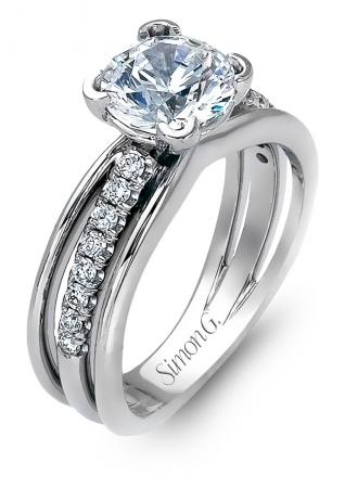 Simon G : Split Shank Engagement Ring