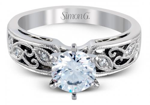 Simon G : Filigree Milgrain Engagement Ring