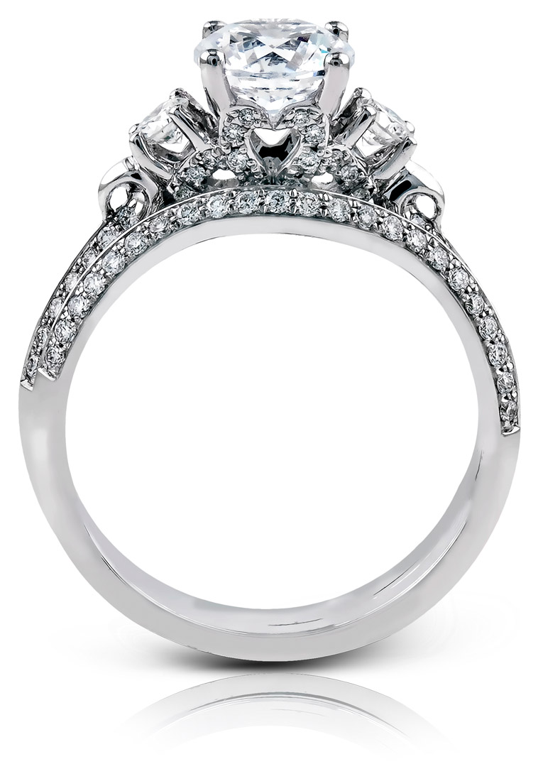 large side ring accent collections solitaire cut stones diamonds heart with diamond round engagement brilliant rings