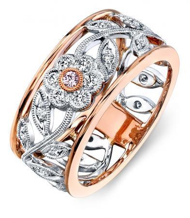 Simon G : Flower Design Rose Fashion Ring