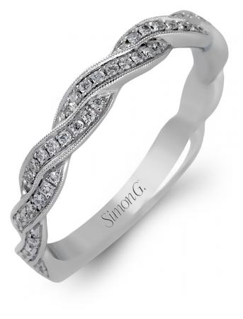 Simon G : Twisted Rope Woven Wedding Band