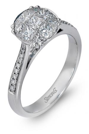 Simon G : Cathedral Mosaic Engagement Ring
