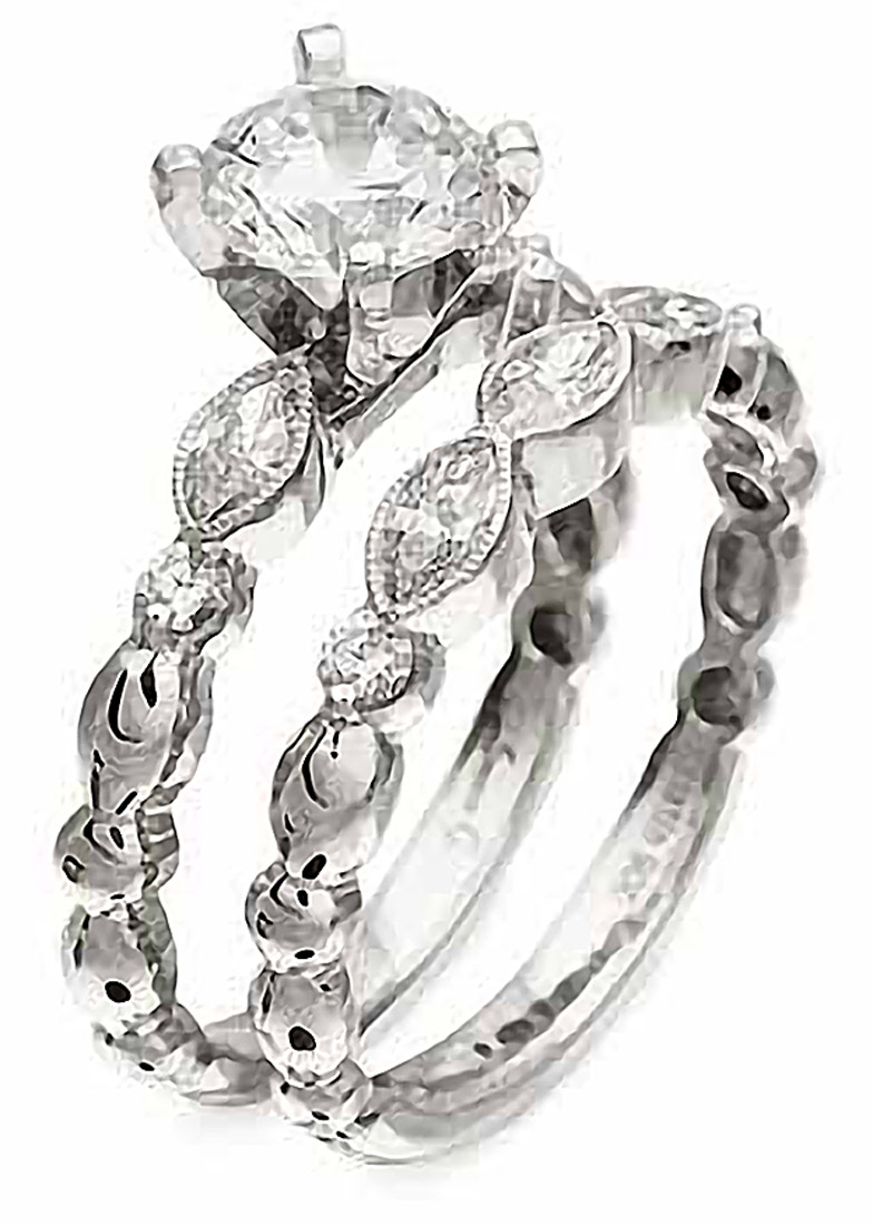 Simon G : Feminine Marquise Engagement Ring