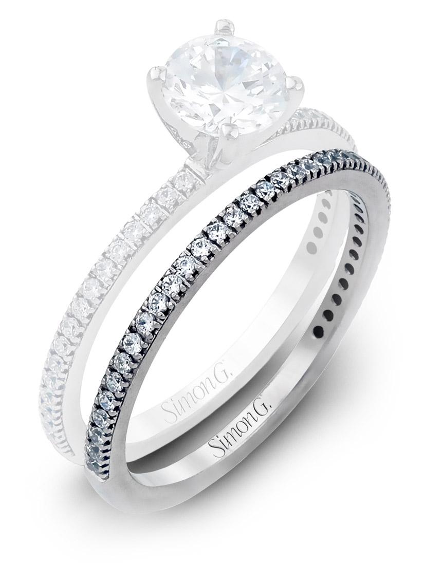 Simon G Simple Diamond Wedding Band