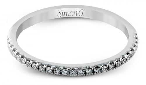 Simon G : Simple Diamond Wedding Band