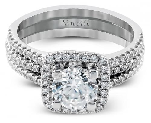 Simon G : Halo Wedding Set