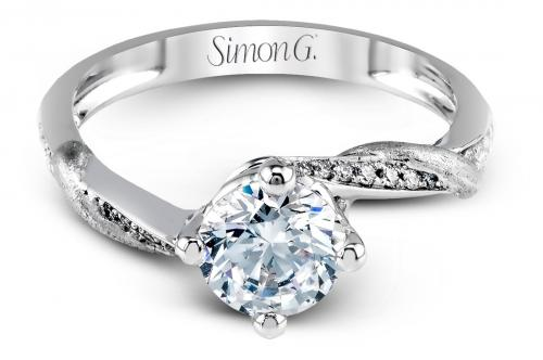 Simon G : Twisted Vine Engagement Ring