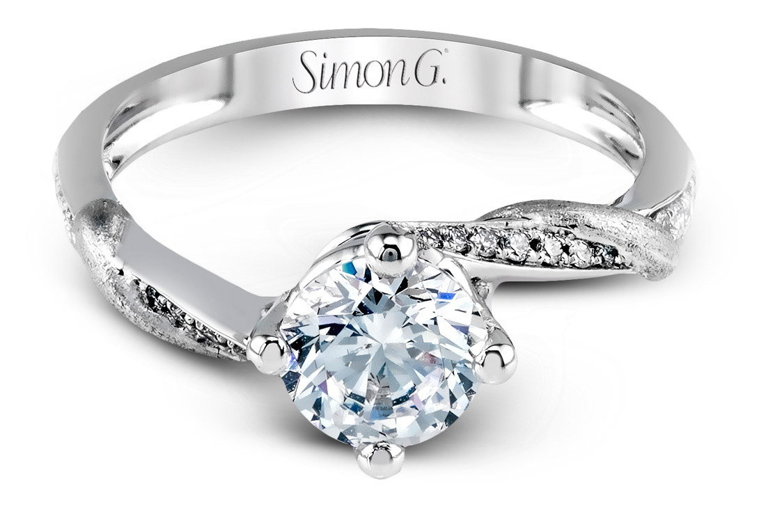 Simon G Twisted Vine Engagement Ring