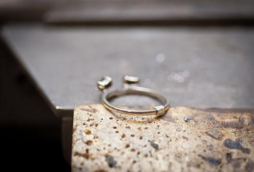 We add metal when we size rings up