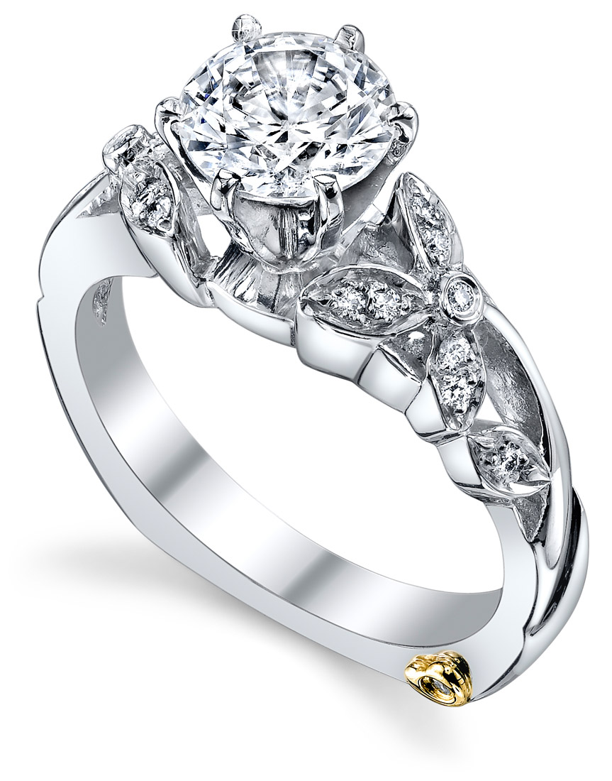 Mark Schneider : Adore Floral Engagement Ring