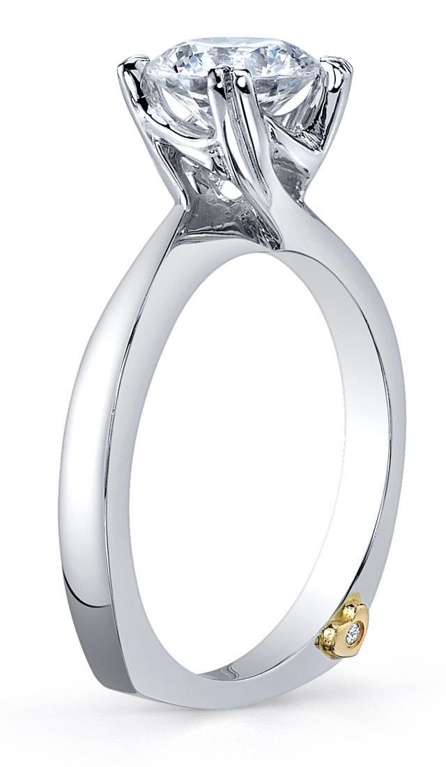 Mark Schneider Beloved Contemporary Engagement Ring Side View