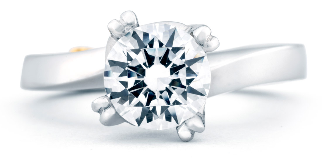 Mark Schneider Beloved Contemporary Engagement Ring Top View