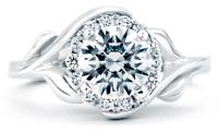 Mark Schneider Bloom Floral Engagement Ring Top View
