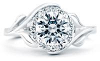 Mark Schneider Bloom Floral Engagement Ring Top View