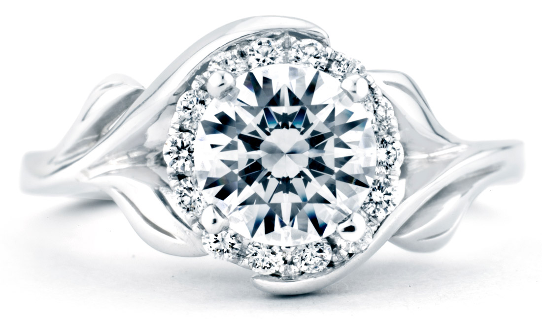 Mark Schneider : Bloom Floral Engagement Ring