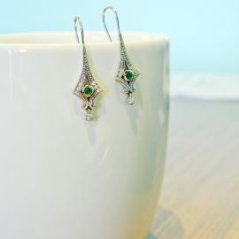 Estate earrings on Etsy